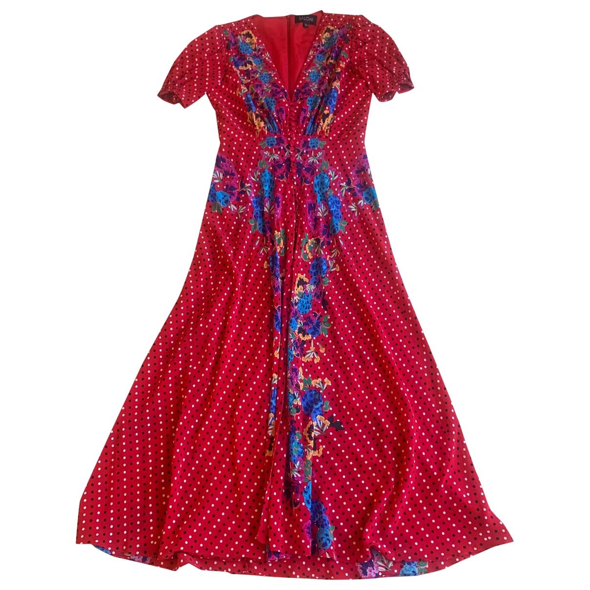 Saloni - Robe   pour femme en soie - multicolore