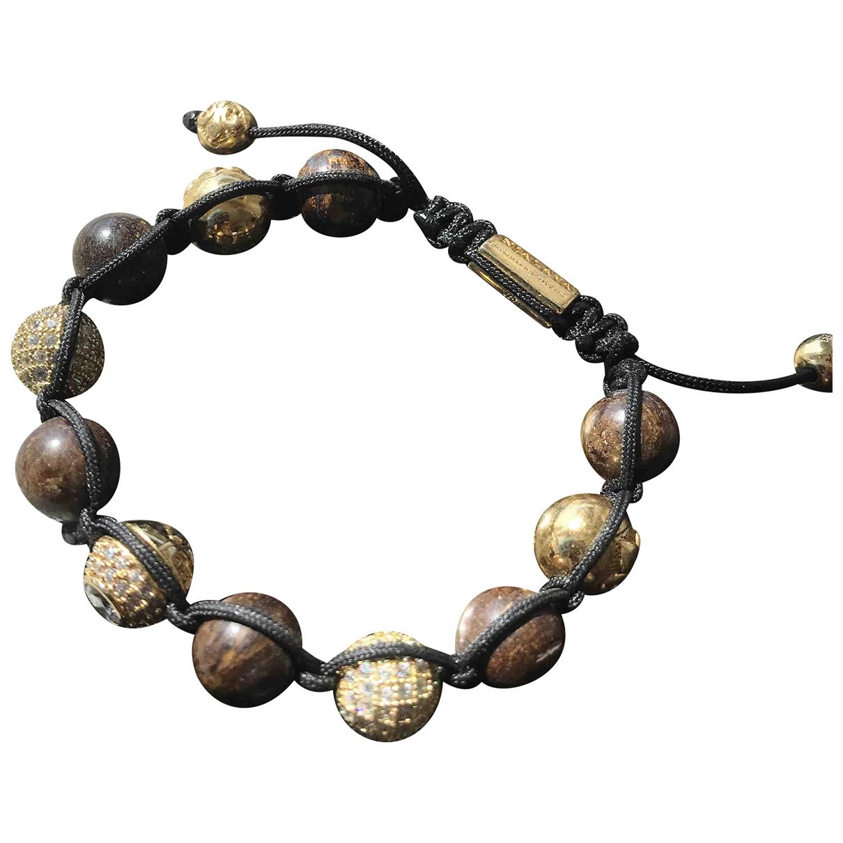 Nialaya \N Armband in  Braun Perlen