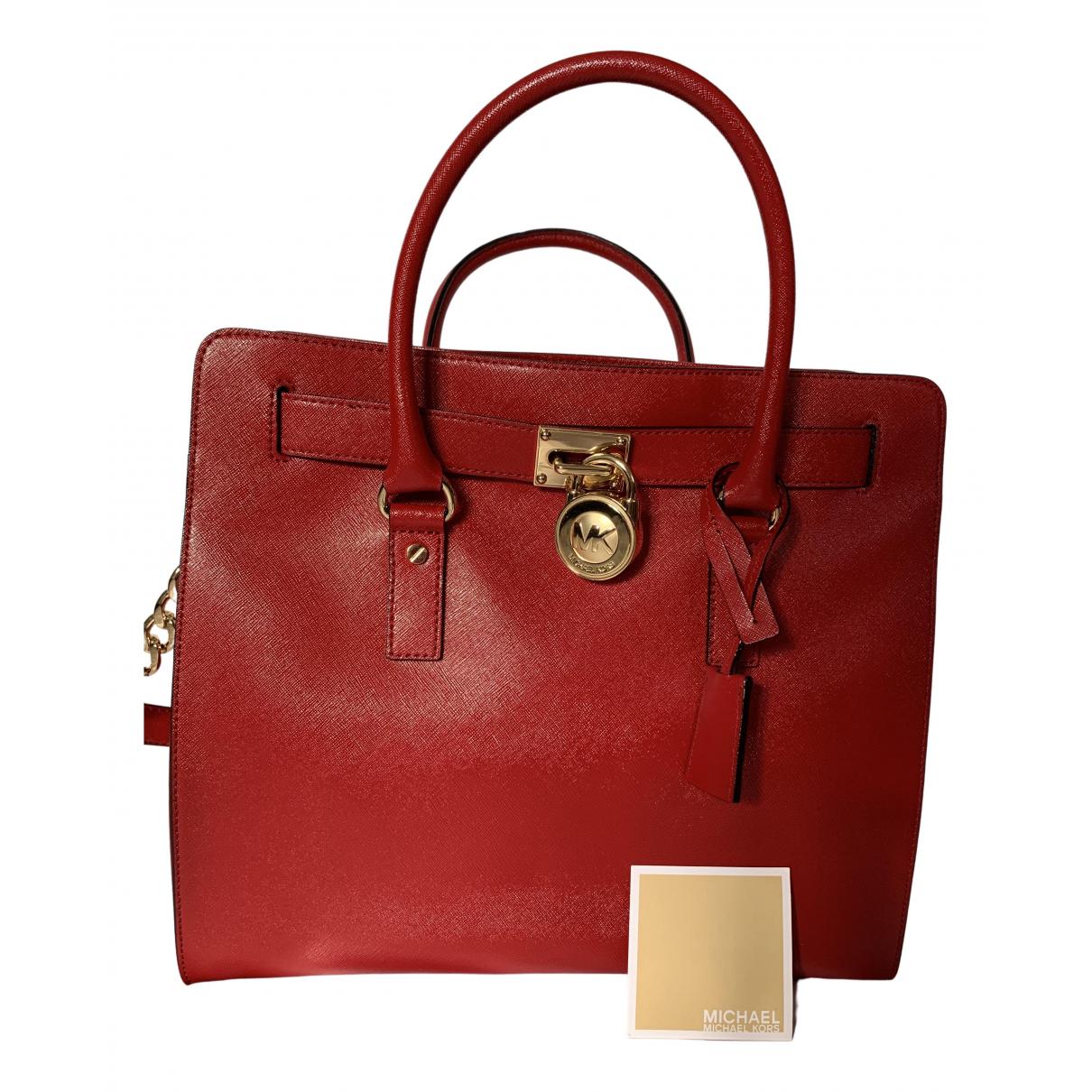 Michael Kors Hamilton Red Leather handbag for Women \N