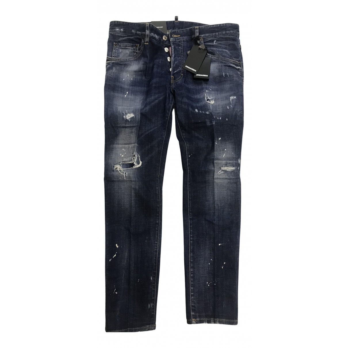 Dsquared2 N Blue Cotton - elasthane Jeans for Men 38 - 40 FR