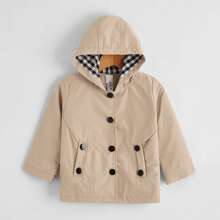 Baby Unisex Button Through Hooded Coat