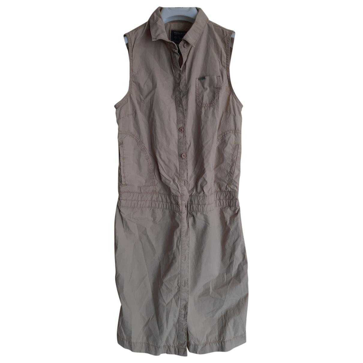 Woolrich \N Kleid in  Beige Baumwolle