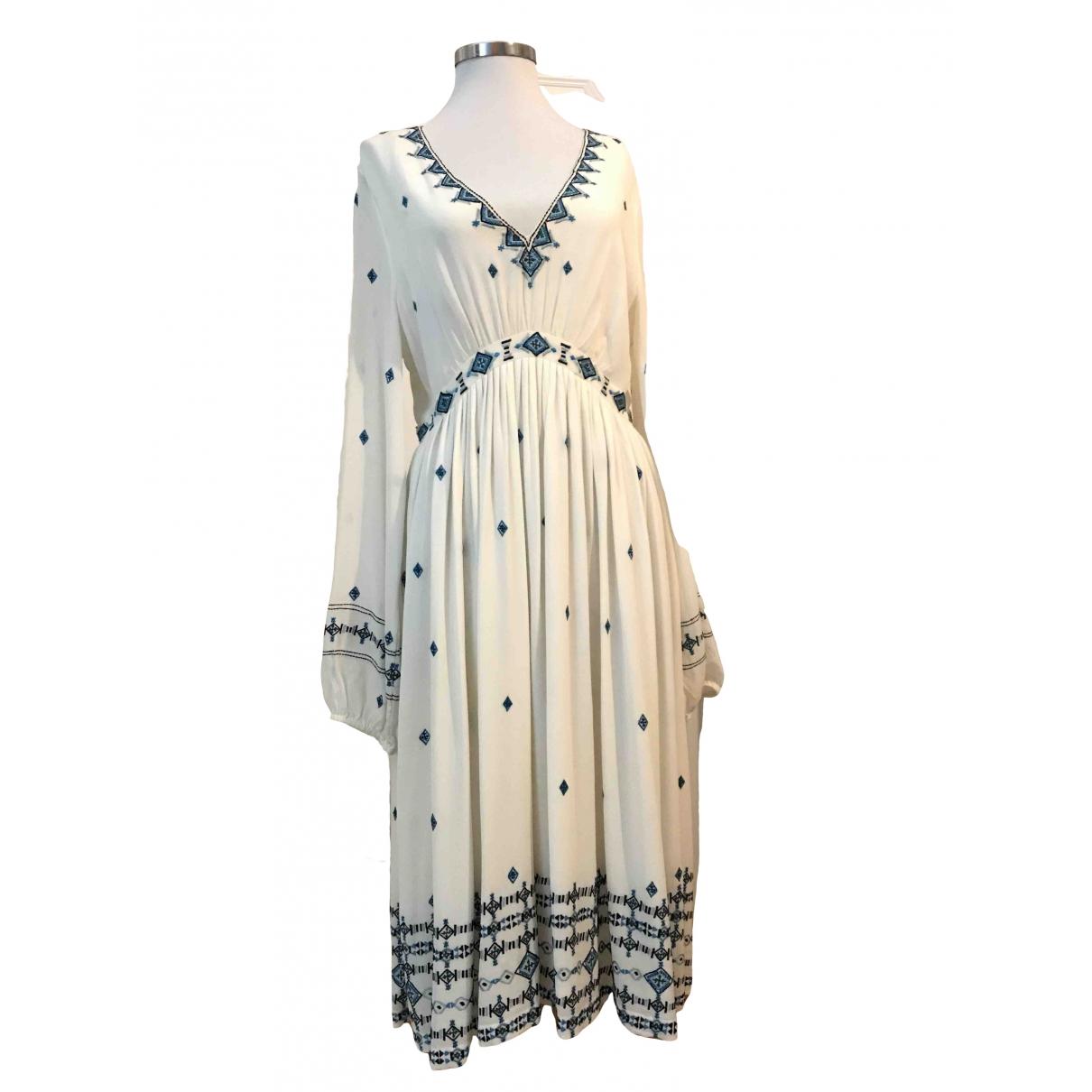 Talitha - Jupe   pour femme en soie - blanc