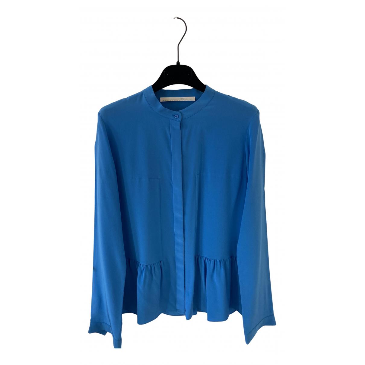 Schumacher - Top   pour femme en soie - bleu