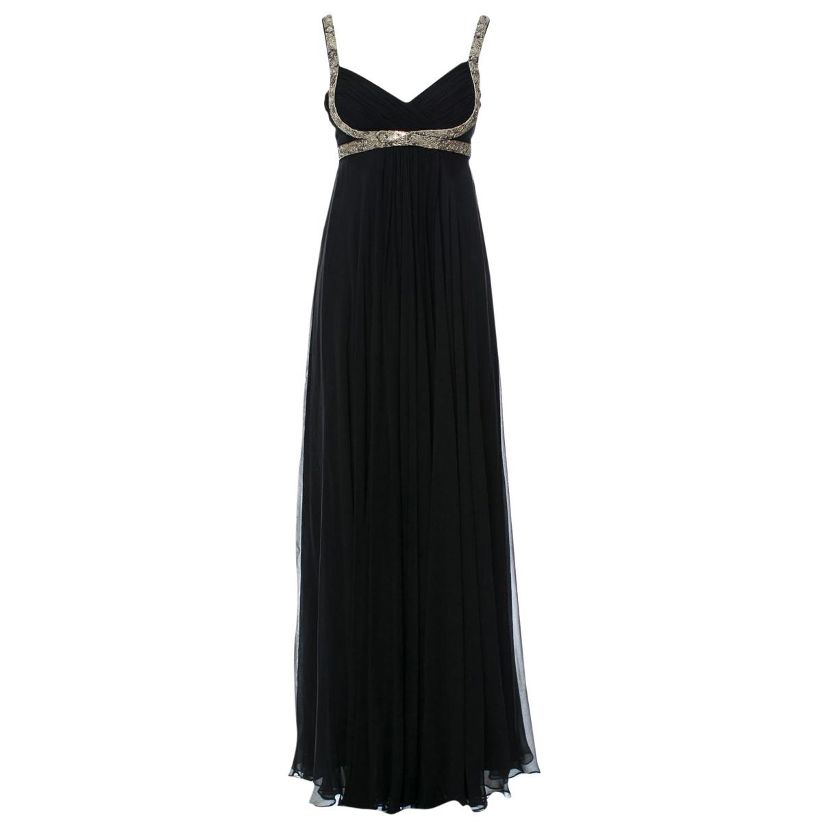 Marchesa Notte - Robe   pour femme en soie - noir