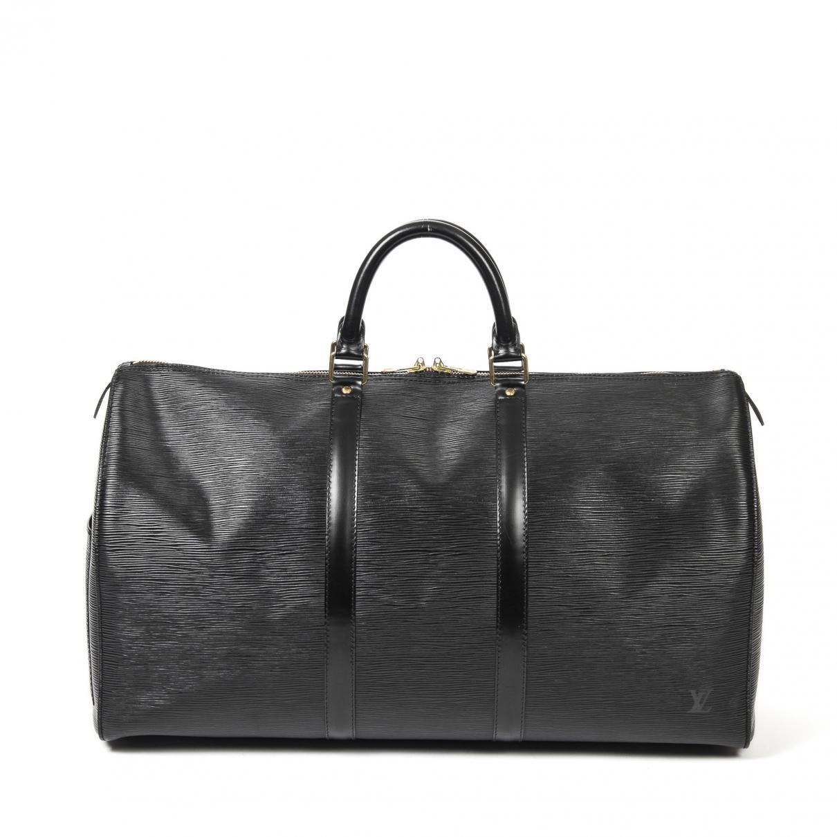 Louis Vuitton \N Reisetasche in  Schwarz Leder
