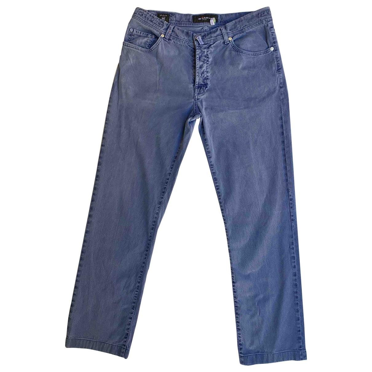 Kiton - Pantalon   pour femme en denim - bleu