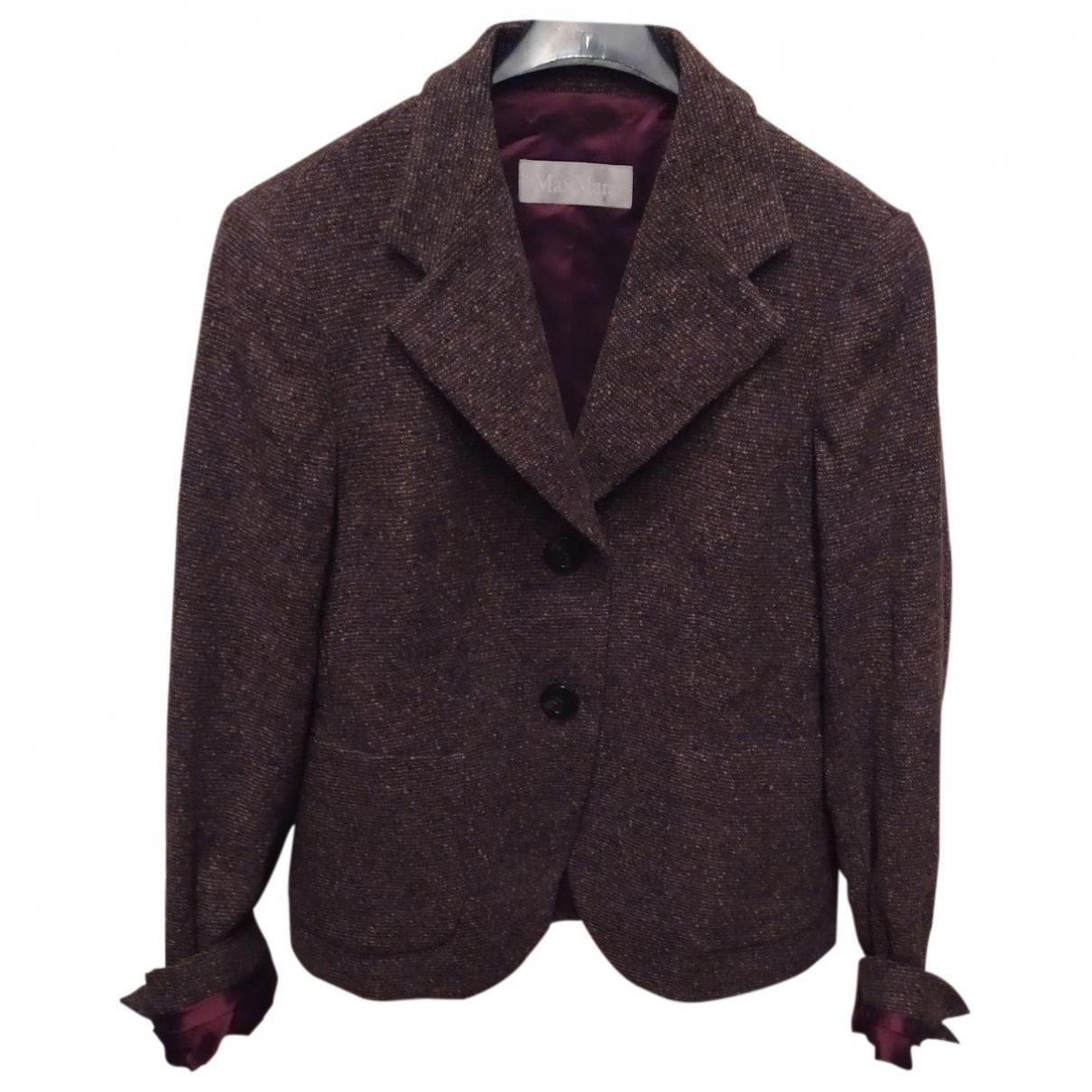 Max Mara \N Brown Wool jacket for Women 46 IT