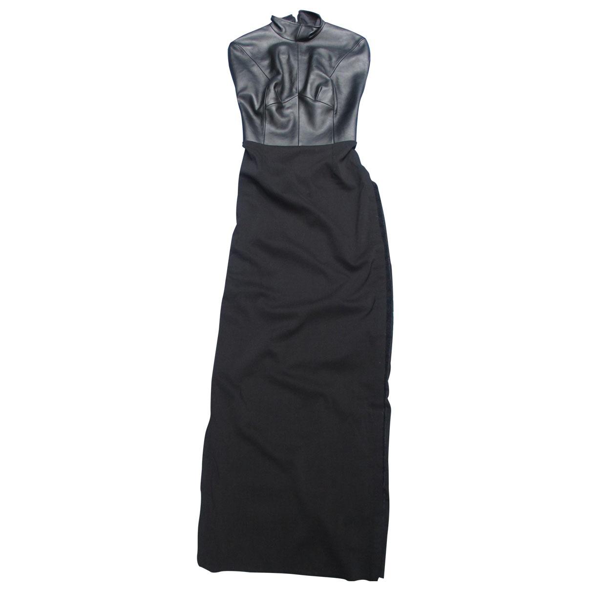 Maison Martin Margiela - Robe   pour femme en cuir - noir