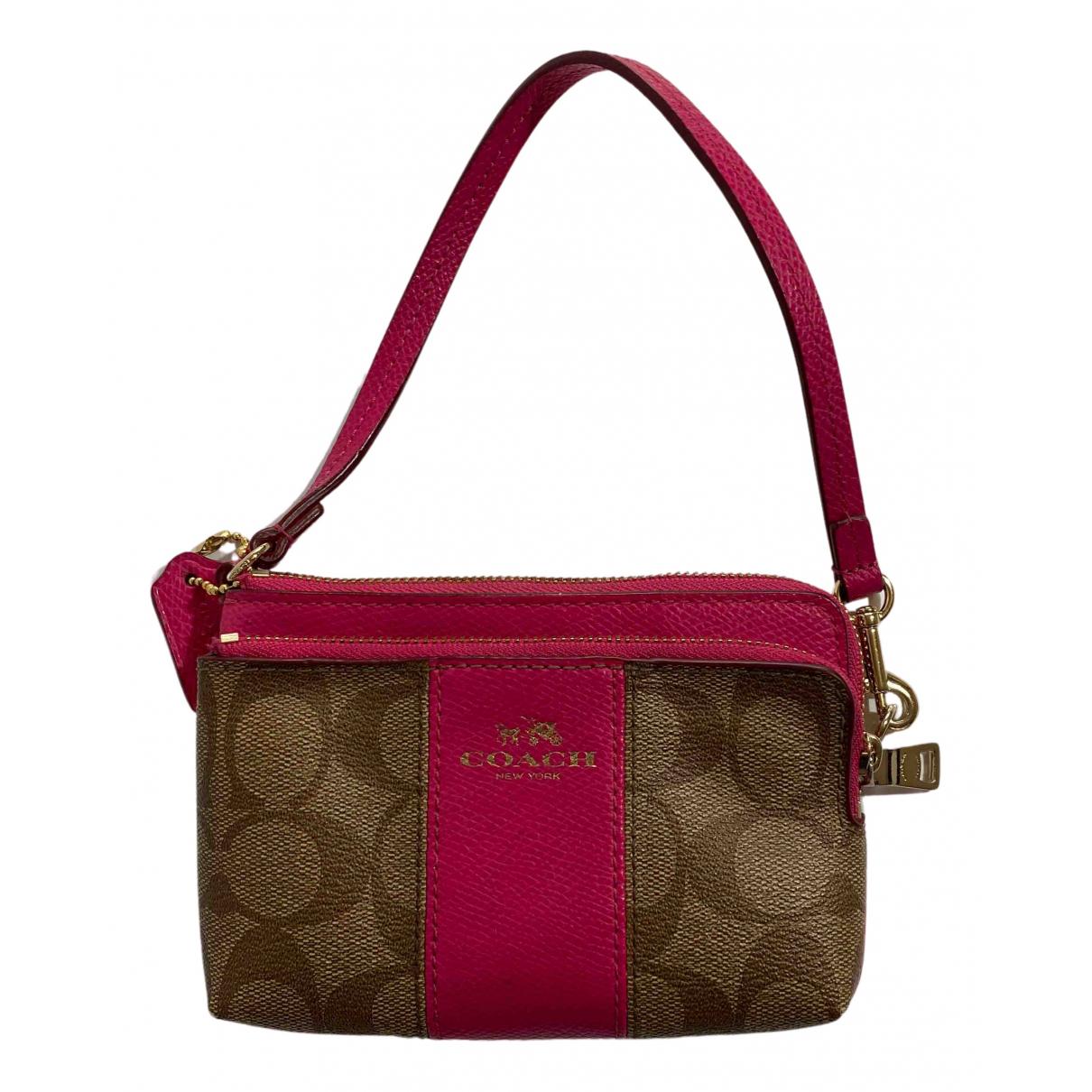 Coach N Brown Leather handbag for Women N