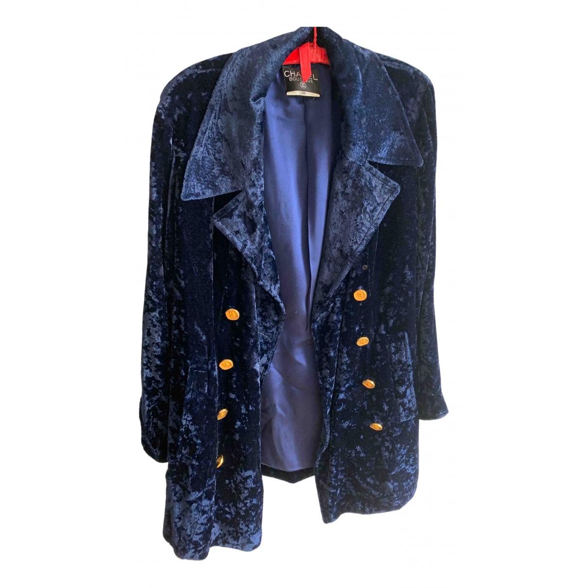 Chanel \N Jacke in  Blau Viskose
