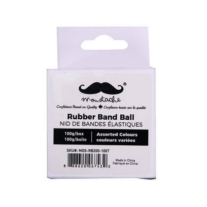 Bandes de caoutchouc, 100g/Sachet - Moustache@ - Boule