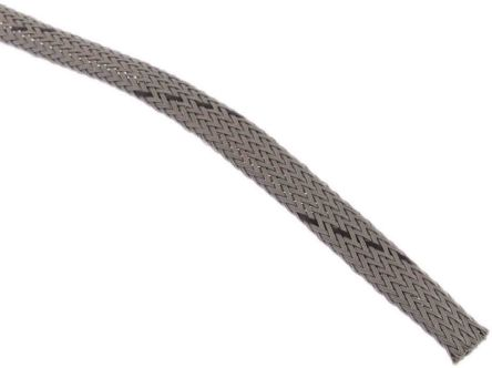 HellermannTyton Expandable Braided PET Grey Cable Sleeve, 5mm Diameter, 10m Length (10)