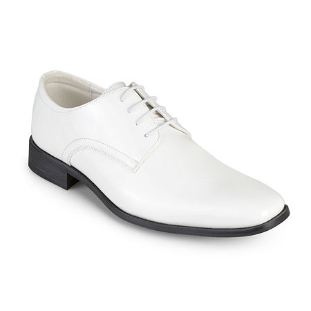 Vance Co Cole Mens Oxford Shoes, 10 1/2 Wide, White
