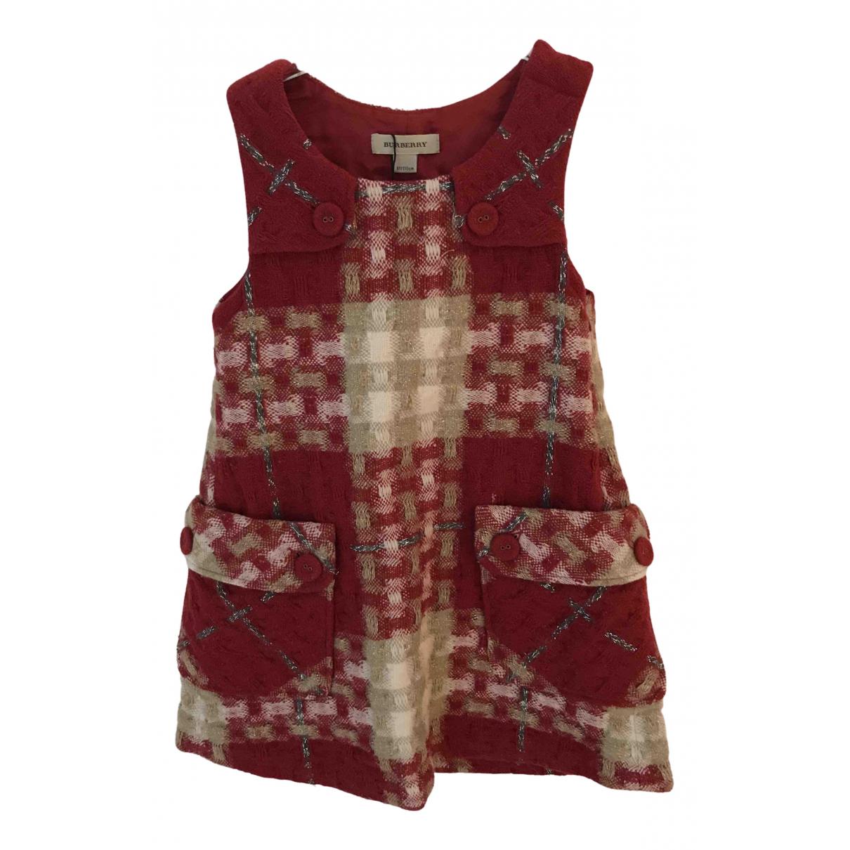 Burberry - Robe    pour enfant en laine - bordeaux