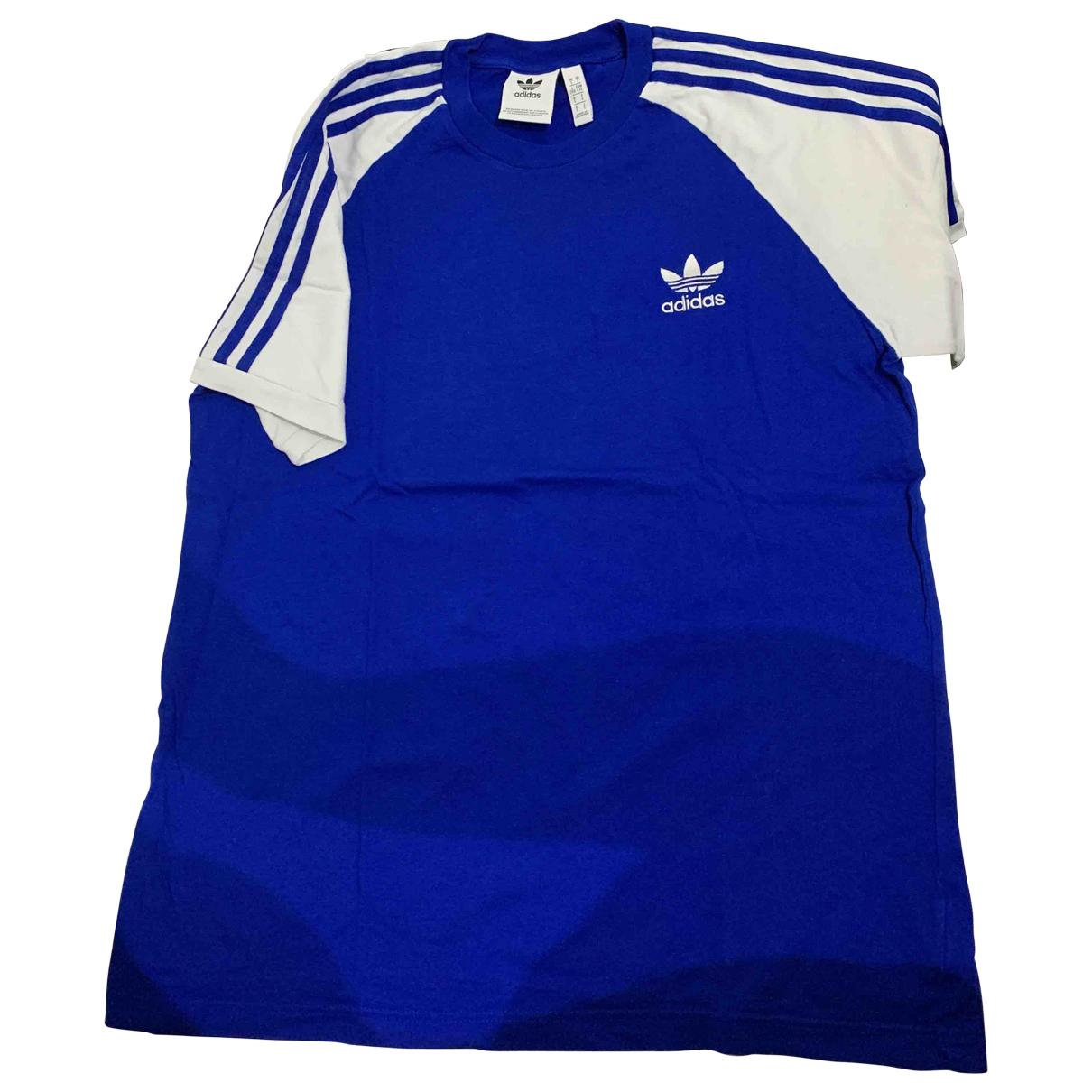 Adidas - Tee shirts   pour homme en coton - bleu