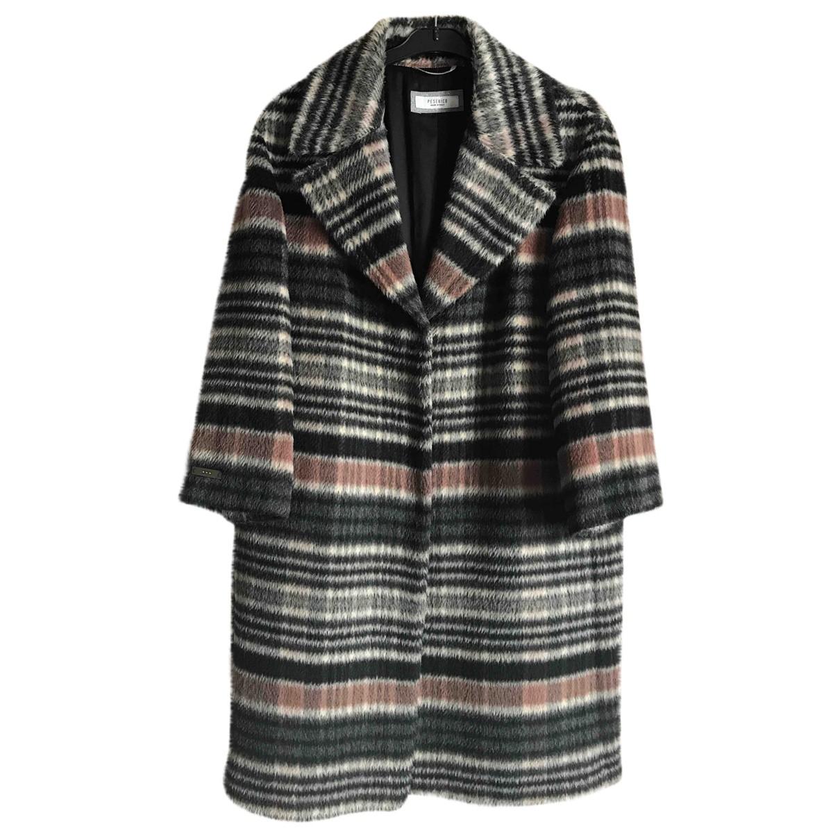 Peserico - Manteau   pour femme en laine - multicolore