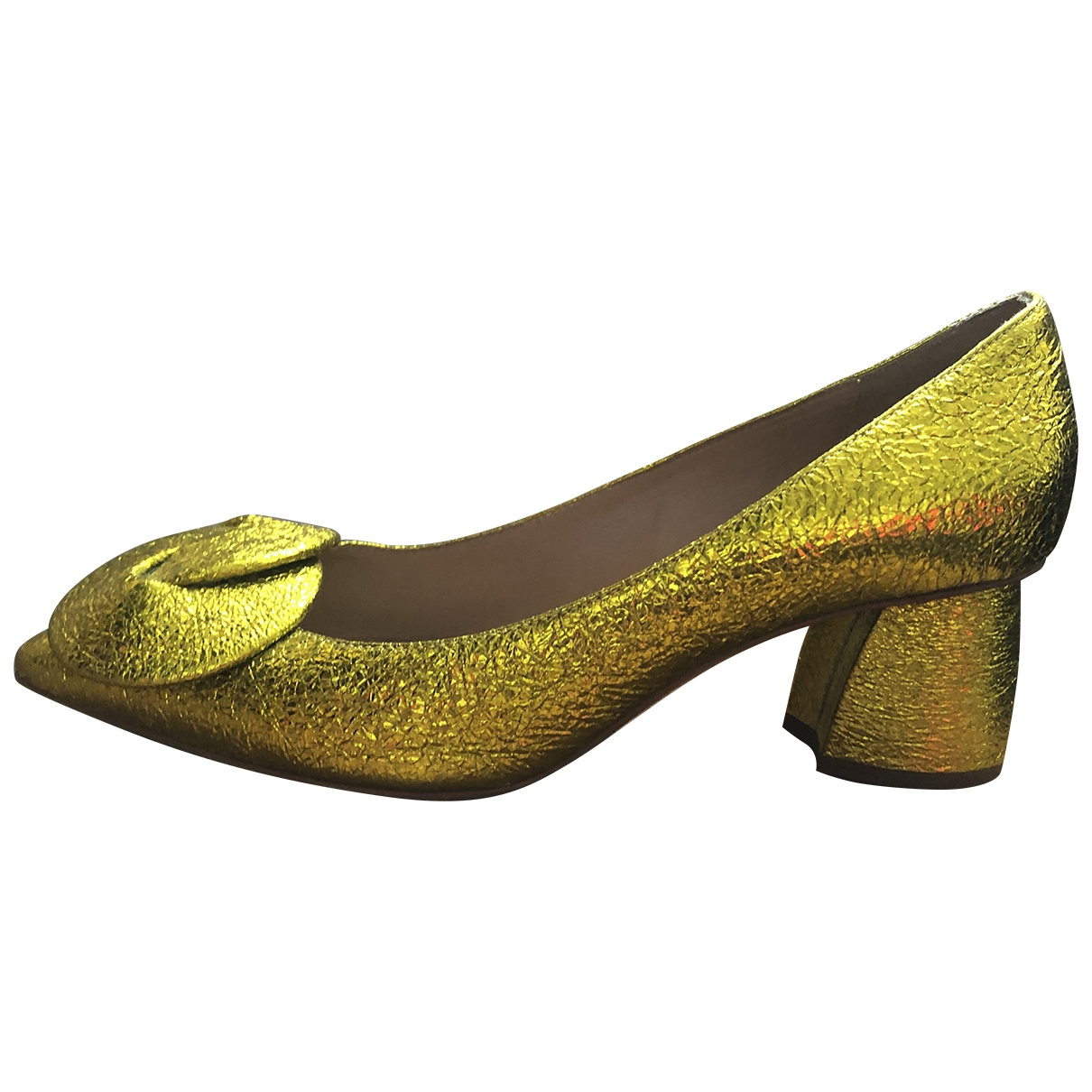 Emporio Armani \N Ballerinas in  Gold Leder