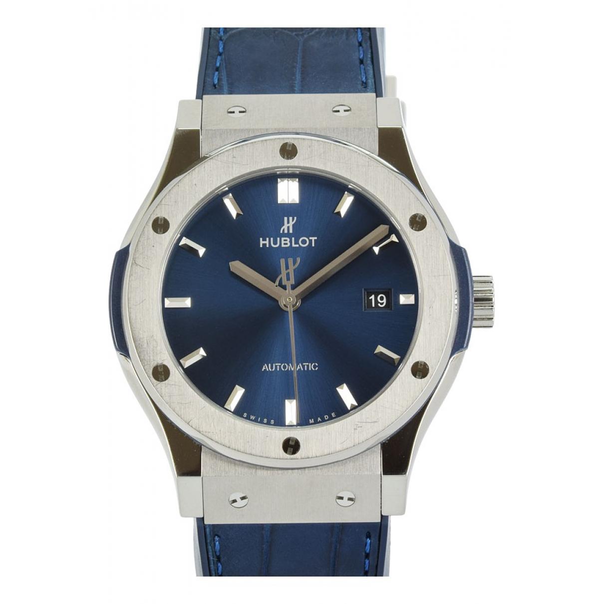 Hublot Classic Fusion Uhr in  Blau Titan