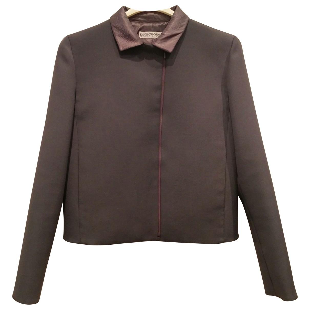 Emporio Armani \N Grey jacket for Women 42 IT