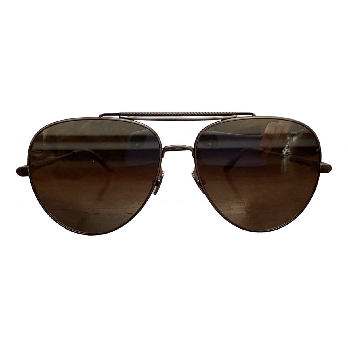 Bottega Veneta \N Silver Metal Sunglasses for Men \N