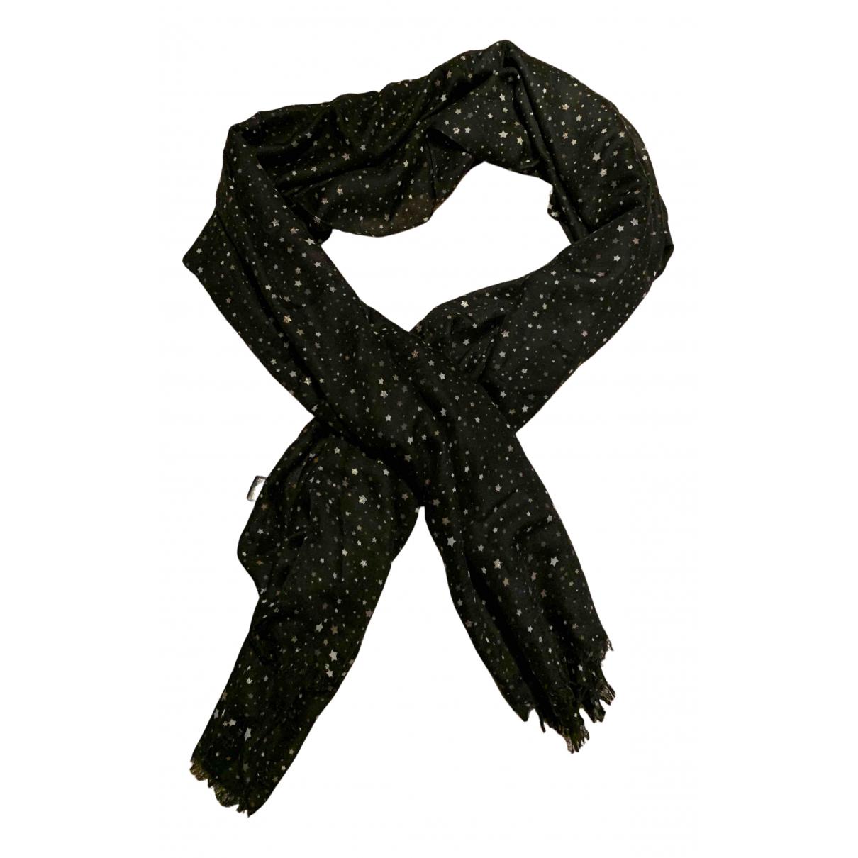 Twin Set - Foulard   pour femme en coton - noir