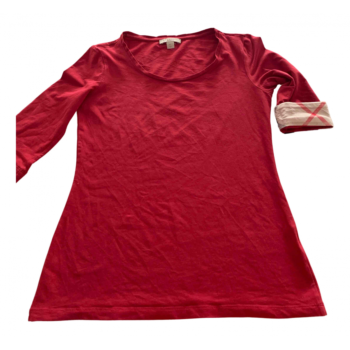 Burberry N Red Cotton  top for Women XS International