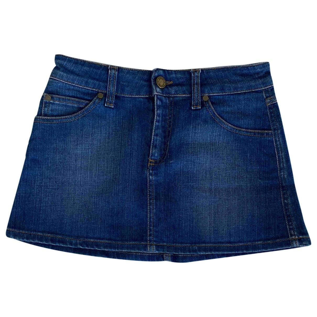 Gucci \N Blue Denim - Jeans skirt for Women 38 FR