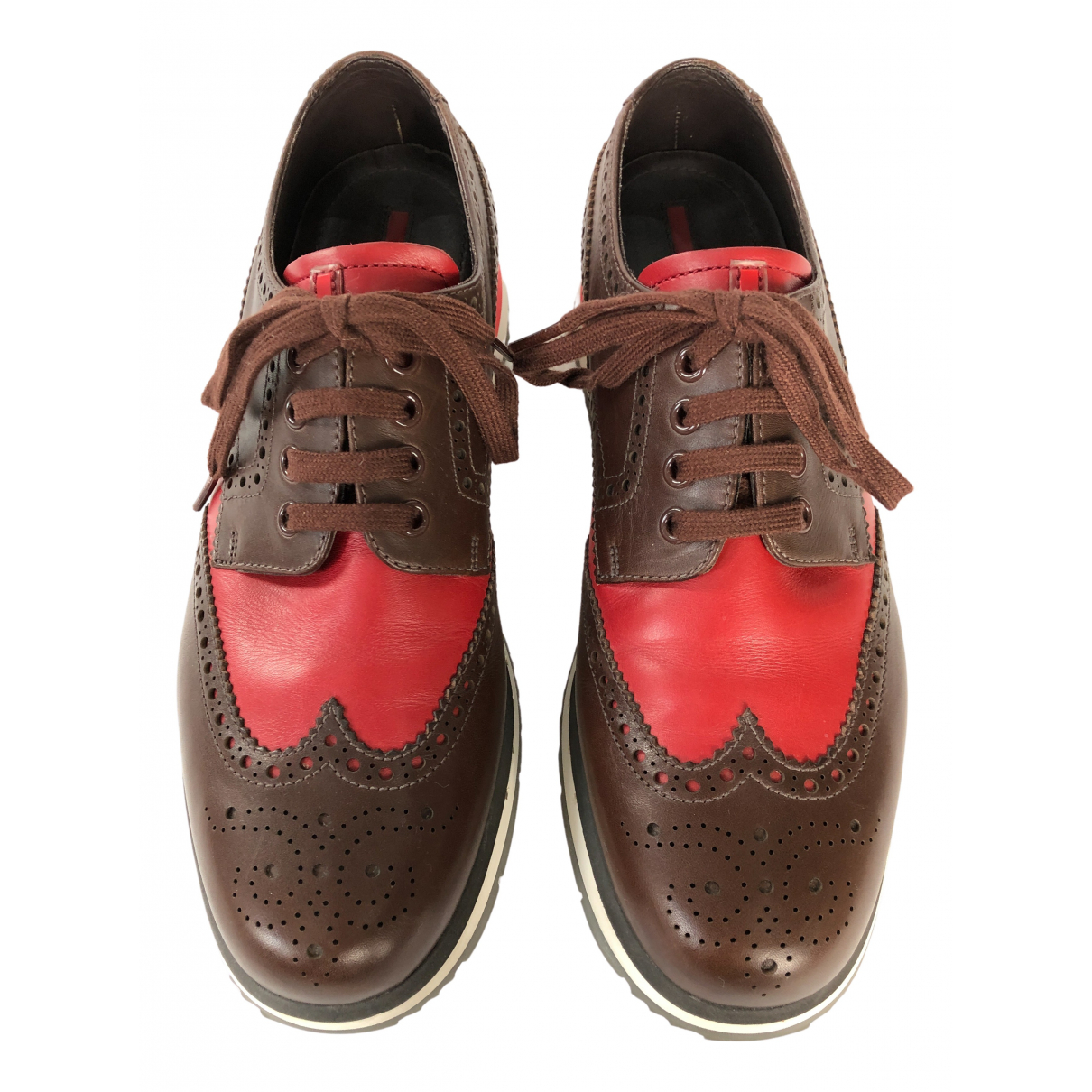 Prada N Brown Leather Lace ups for Men 8 UK