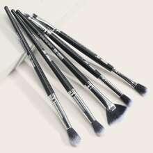 5pcs Duo-fiber Eye Makeup Brush Set