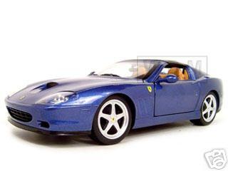 Ferrari Super America Blue 1/18 Diecast Model Car by Hotwheels