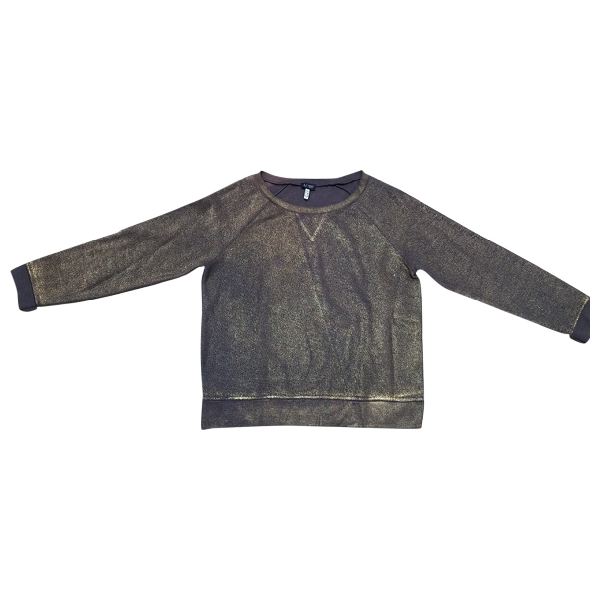 Armani Jeans \N Metallic Cotton Knitwear for Women 40 FR