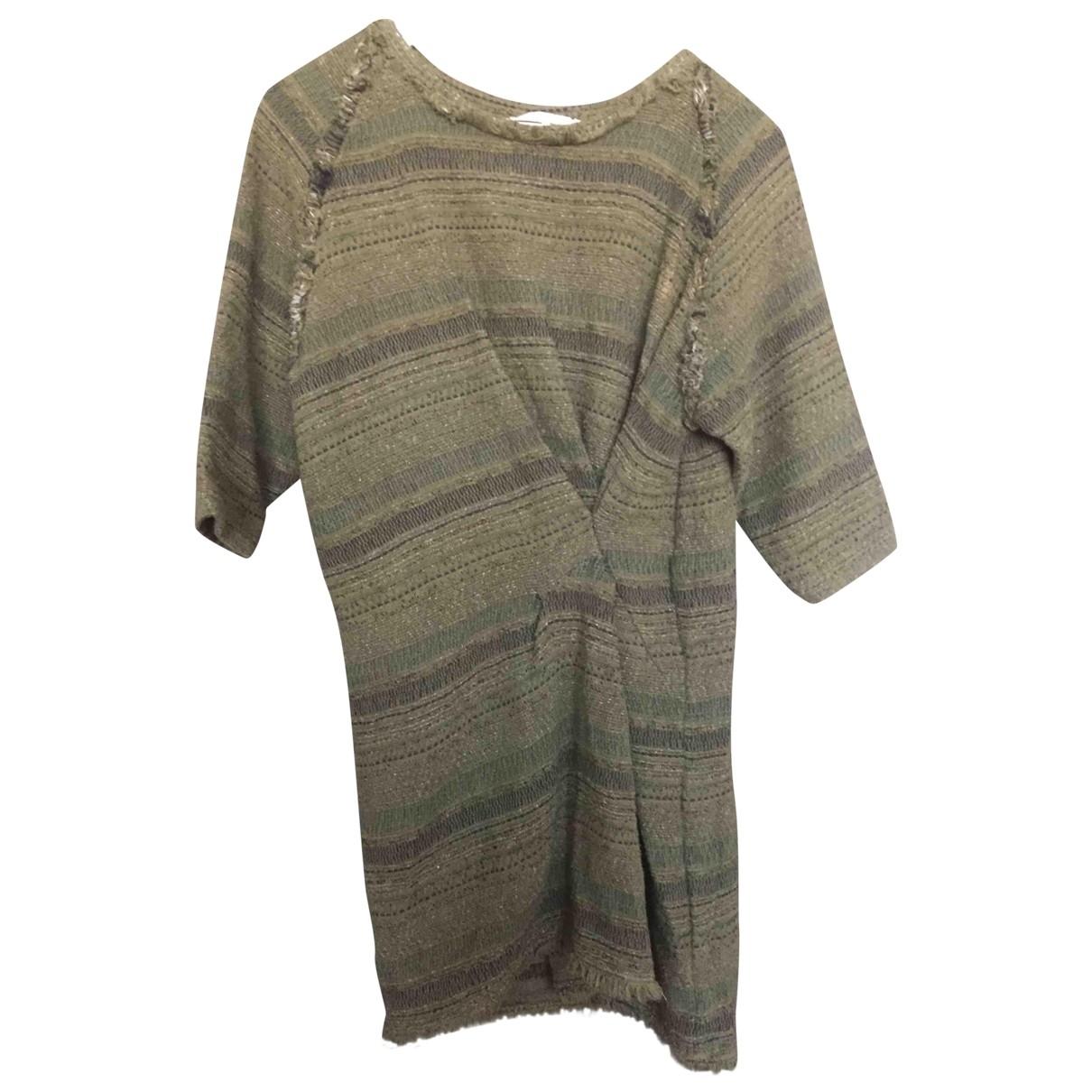 Iro \N Kleid in  Khaki Baumwolle