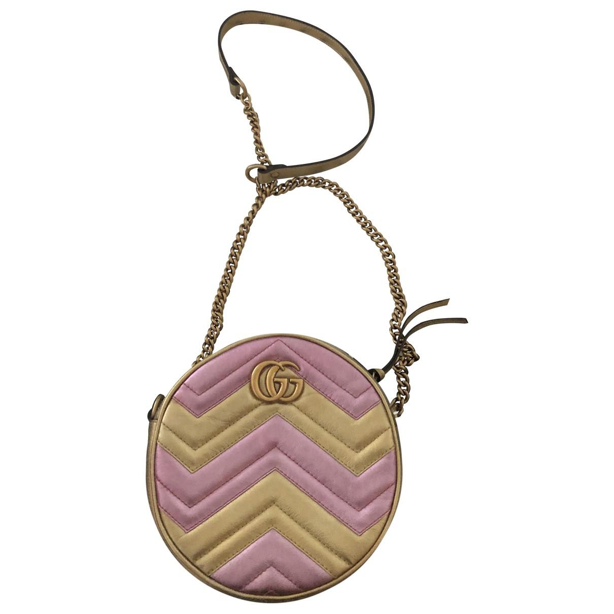 Gucci GG Marmont Circle Multicolour Leather handbag for Women \N