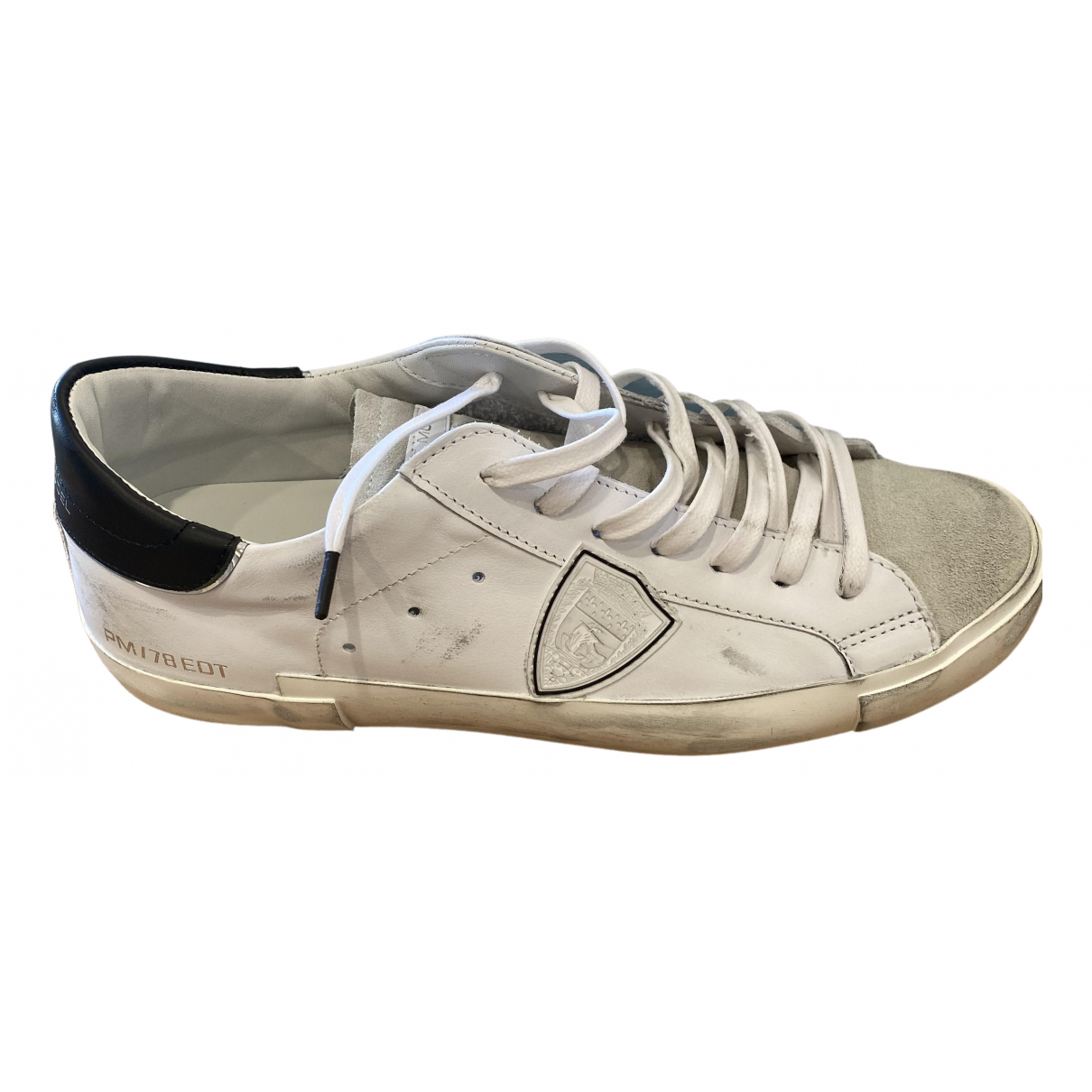 Philippe Model \N White Leather Trainers for Men 43 EU