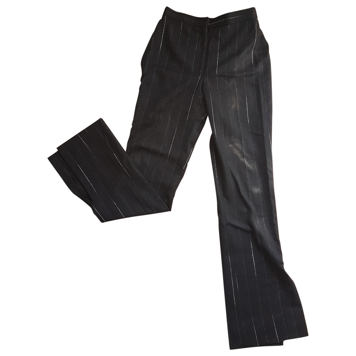 Moschino Cheap And Chic N Black Wool Trousers for Women 36 FR
