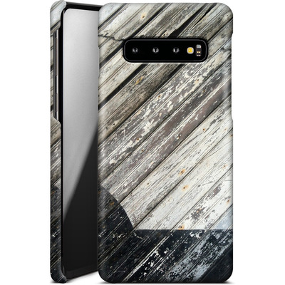 Samsung Galaxy S10 Smartphone Huelle - Diagonal Wood von Brent Williams
