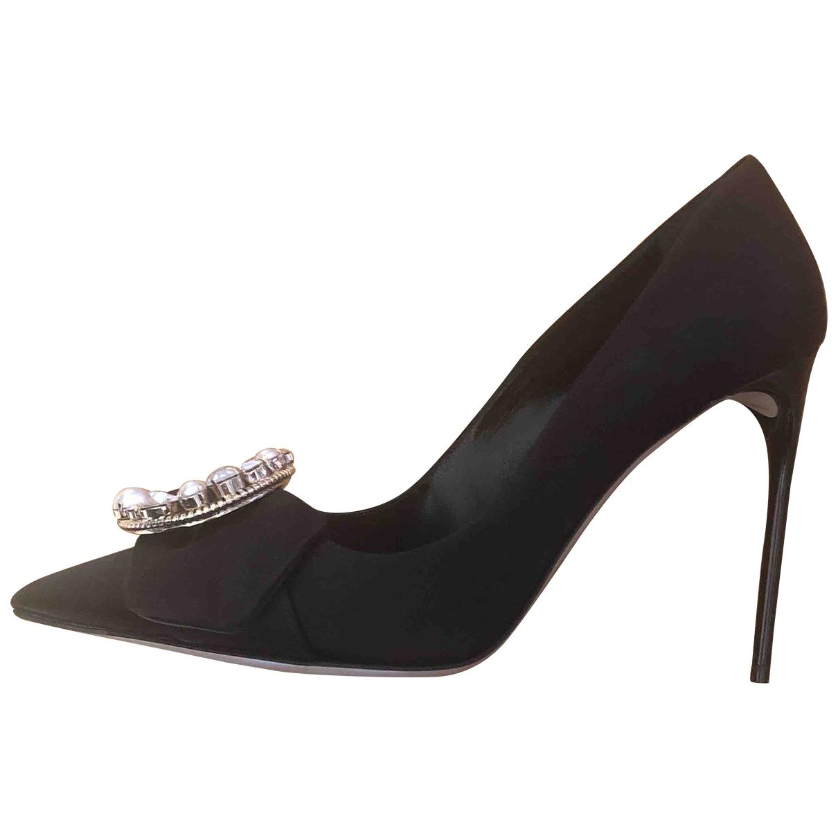 Miu Miu \N Black Cloth Heels for Women 38 EU