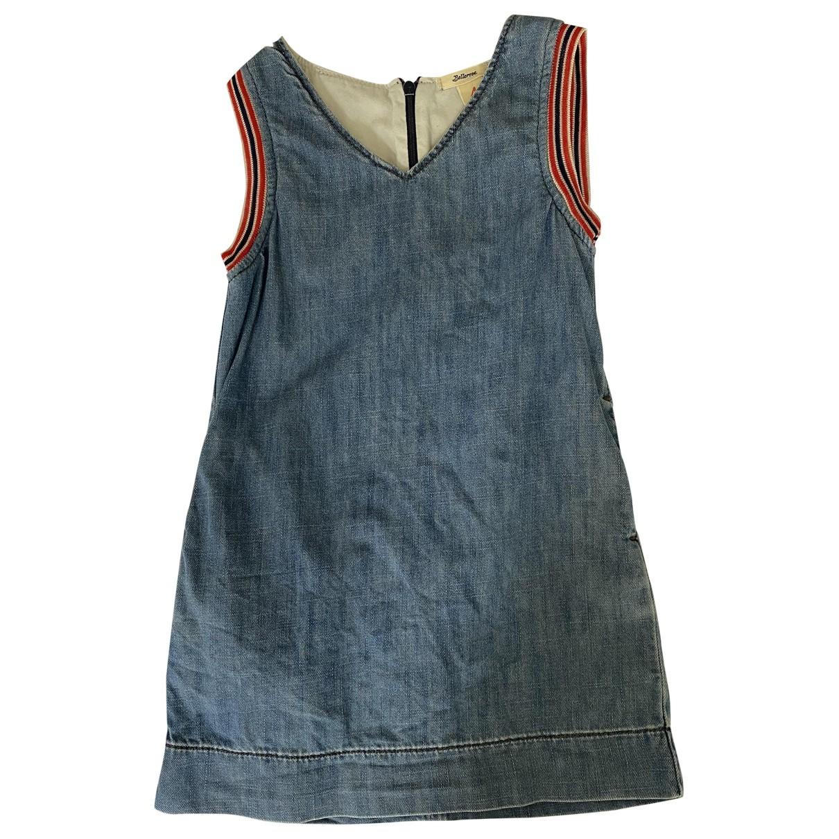 Bellerose - Robe    pour enfant en denim - bleu