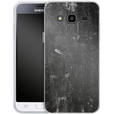 Samsung Galaxy J3 (2016) Silikon Handyhuelle - Grundge von caseable Designs