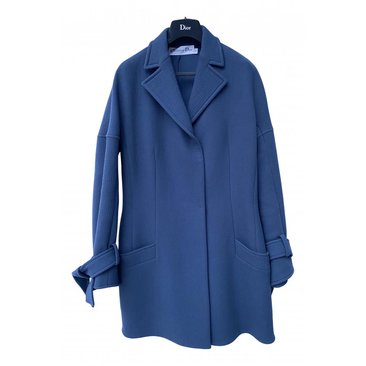 Dior - Manteau   pour femme en laine - bleu