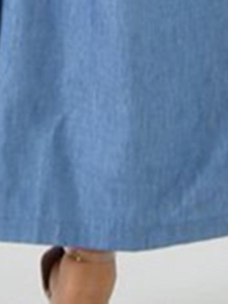 Ericdress Plain Button Wide Legs Loose Jumpsuit