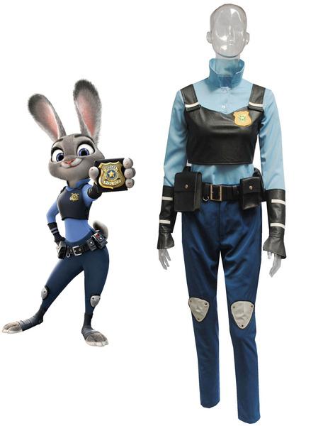 Milanoo  Zootopia Judy Hopps Rabbit Halloween Cosplay Costume Blue Cotton Sash Halloween