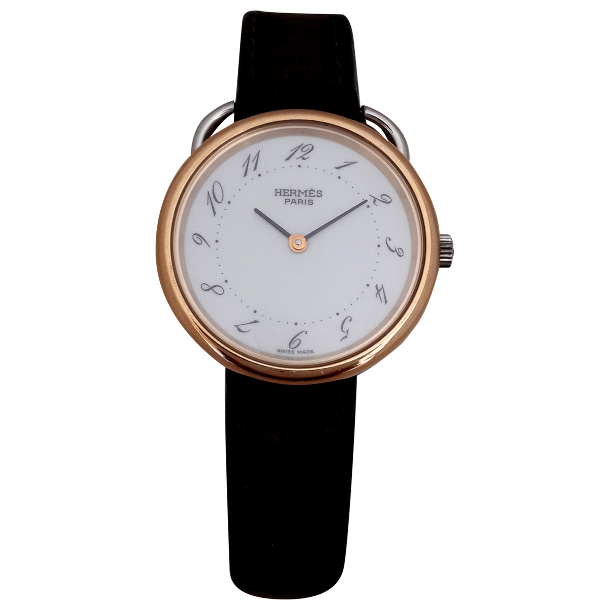 Hermès Arceau White gold and steel watch for Women \N