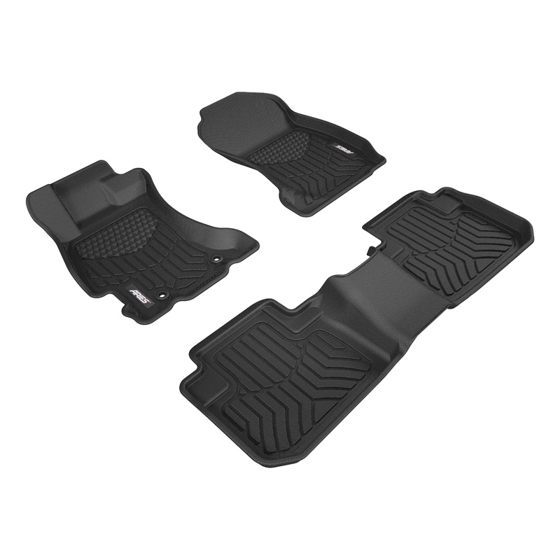 Aries 2805209 Thermoplastic Rubber Black Rubber StyleGuard XD Floor Liners