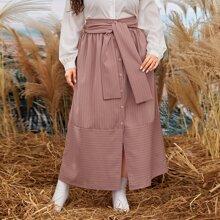 Faldas Extra Grande Particion A rayas Casual