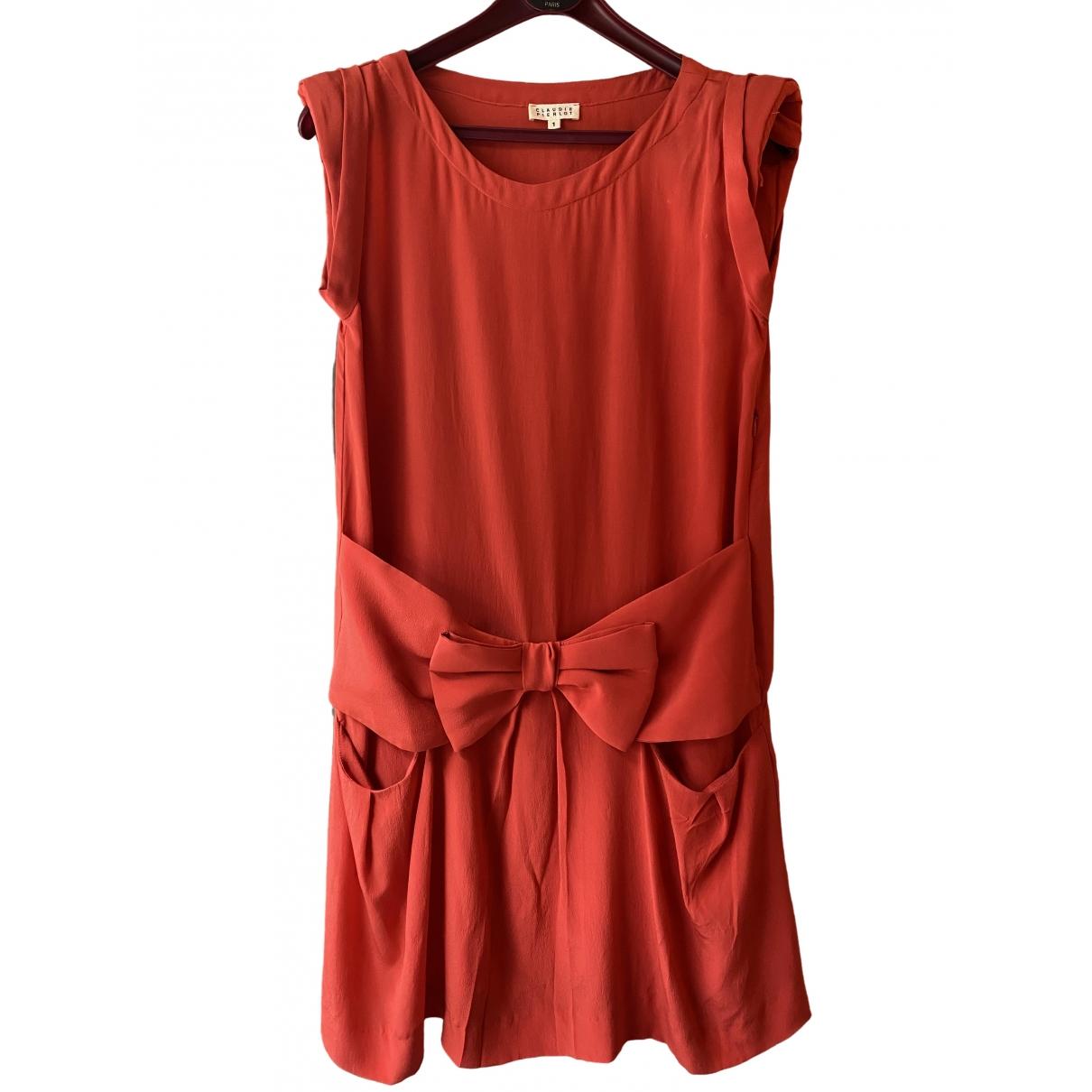 Claudie Pierlot \N Kleid in  Rot Seide