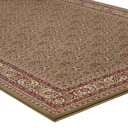 Concord Global Rectangular Indoor Rugs, One Size , Green