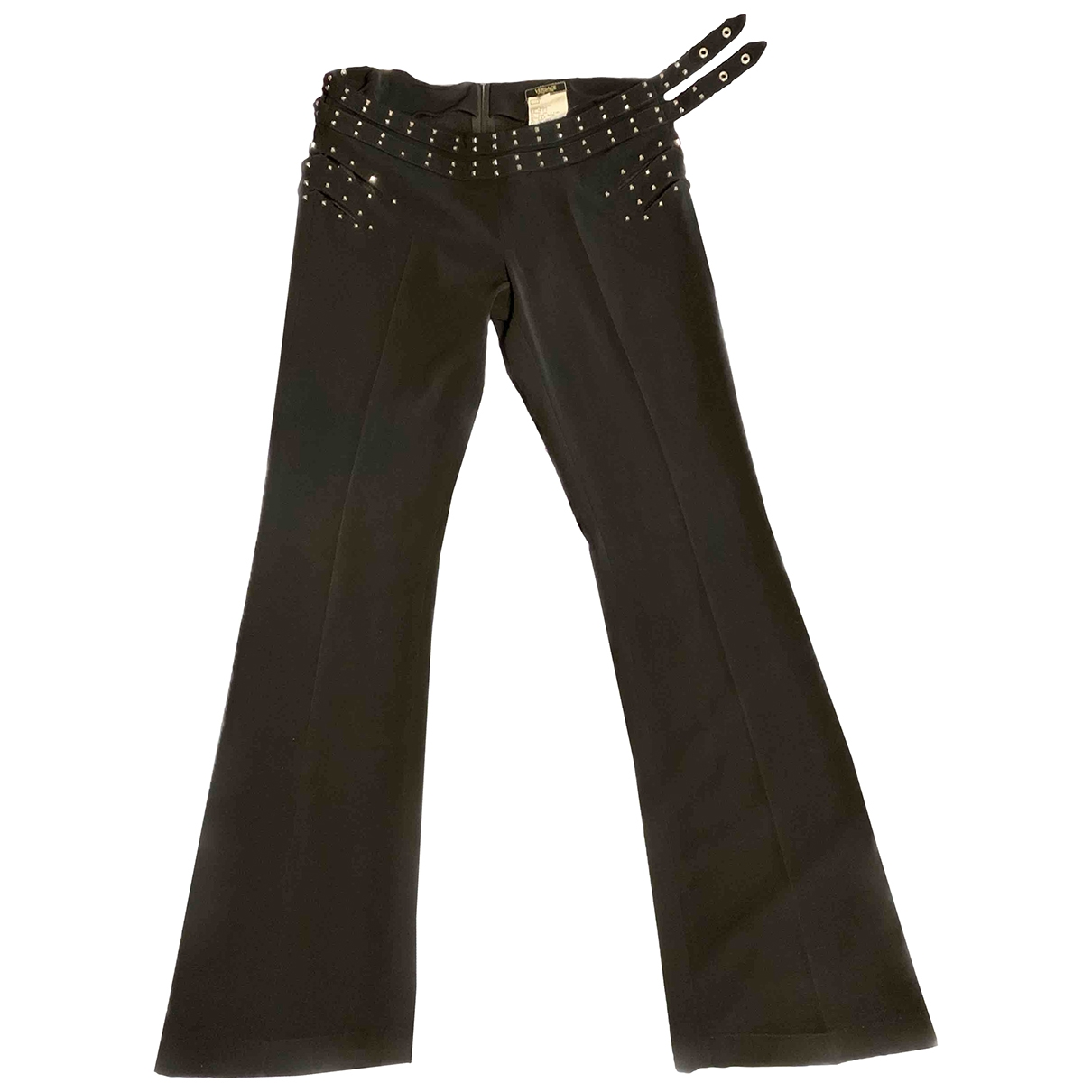 Versace Jeans \N Black Trousers for Women 6 US
