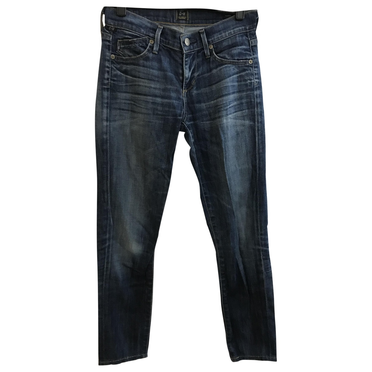 Citizens Of Humanity \N Blue Cotton - elasthane Jeans for Women 24 US